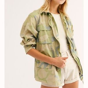 Free people Lead The Way Camo utility Jacket